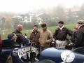 Piloten der Vorkriegsfahrzeuge im Zielgelände am Jochpass Memorial 2015