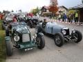 Lagonda Rapier 1934 von Emilio Baldini und Riley LG 6 Two Seater 1934 von Edy Schorno am Jochpass Memorial 2015, Startnummern 75 und 77