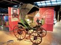 Flocken-Elektrowagen, das älteste Elektrofahrzeug der Welt, 1888 gebaut. Das Fahrzeug im PS.SPEICHER ist eine detailgetreue Replik, 2011 gebaut und voll funktionsfähig