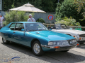 Citroën SM, gebaut von 1970 bis 1975. Der V6-Motor stammte von Maserati. Dass man sich für ein Triebwerk des italienischen Herstellers entschied hängt damit zusammen, dass zur damaligen Zeit Citroën mit 60% an Maserati beteiligt war.