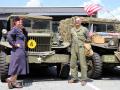 Historische Militärfahrzeuge im Ace Cafe Luzern, August 2019