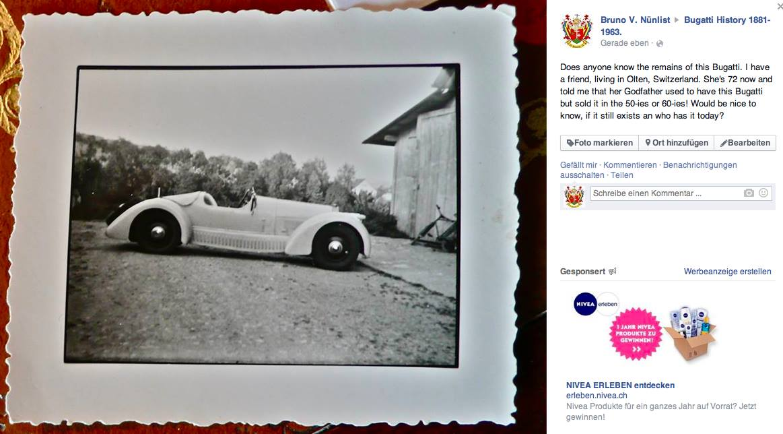 Bruno V. Nünlist sucht diesen Bugatti
