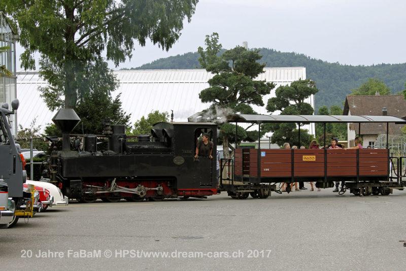Baumschulbahn auf dem Areal des Gartencenter Zulauf in Schinznach-Dorf