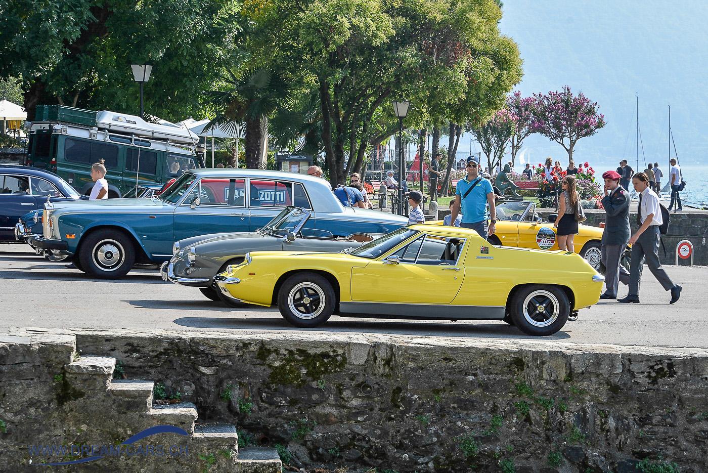 ACCA - Ascona Classic Car Award 2018, 23. September. Ein Lotus Europa an der Seepromenade