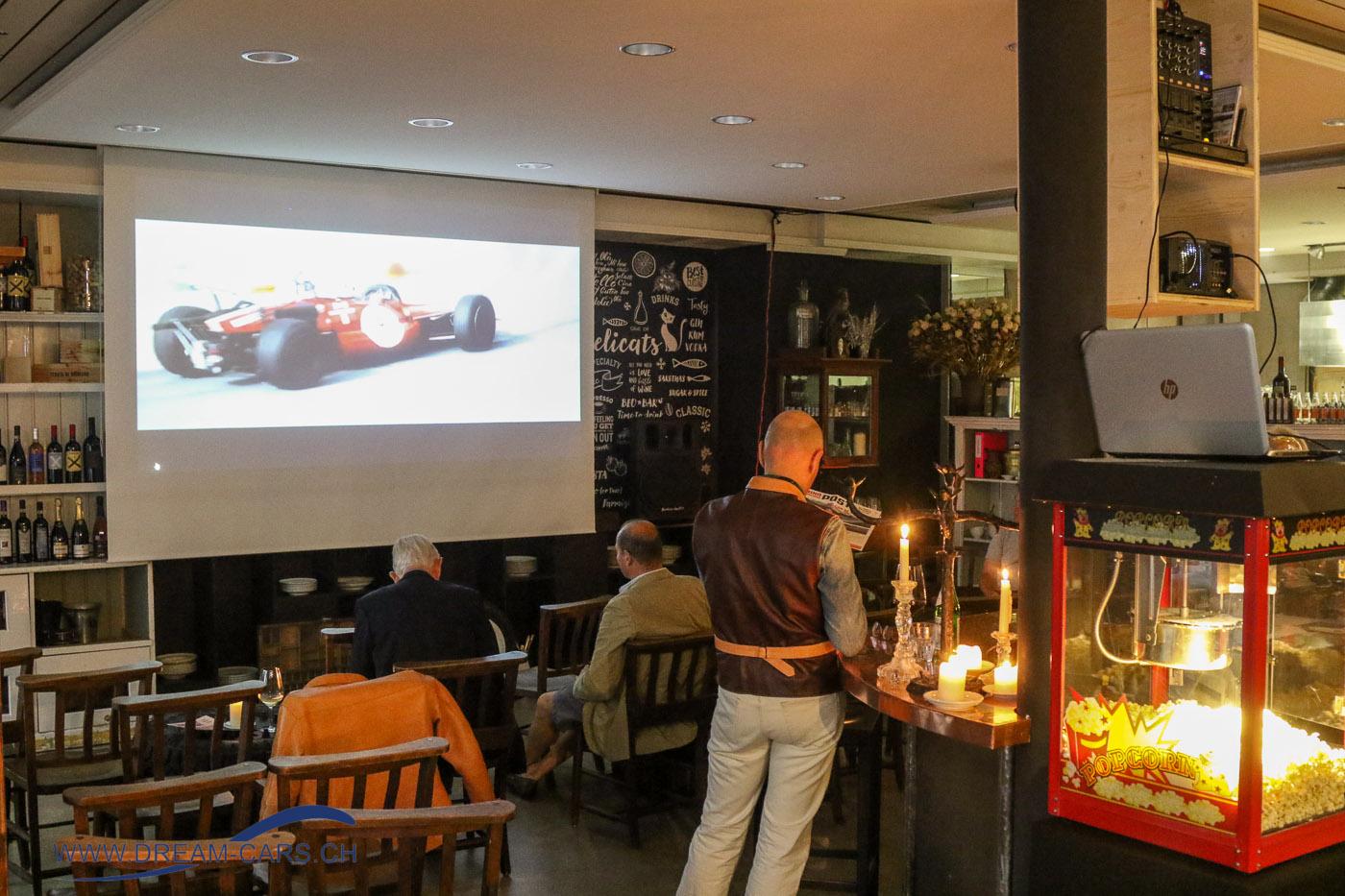 Im Faoro in St. Moritz wurden in der Woche vor dem BERNINA GRAN TURISMO im kleinen Rahmen interessante Filme gezeigt.