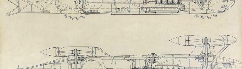 Zeichnung des unbekannten Fahrzeuges