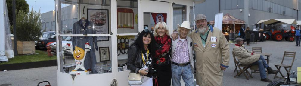 Auto e Moto d'Epoca Padua, 25. - 28. Oktober 2018. Auch Arturo Merzario mit seiner Frau Anna besuchte den Stand von Arthur Piskernik