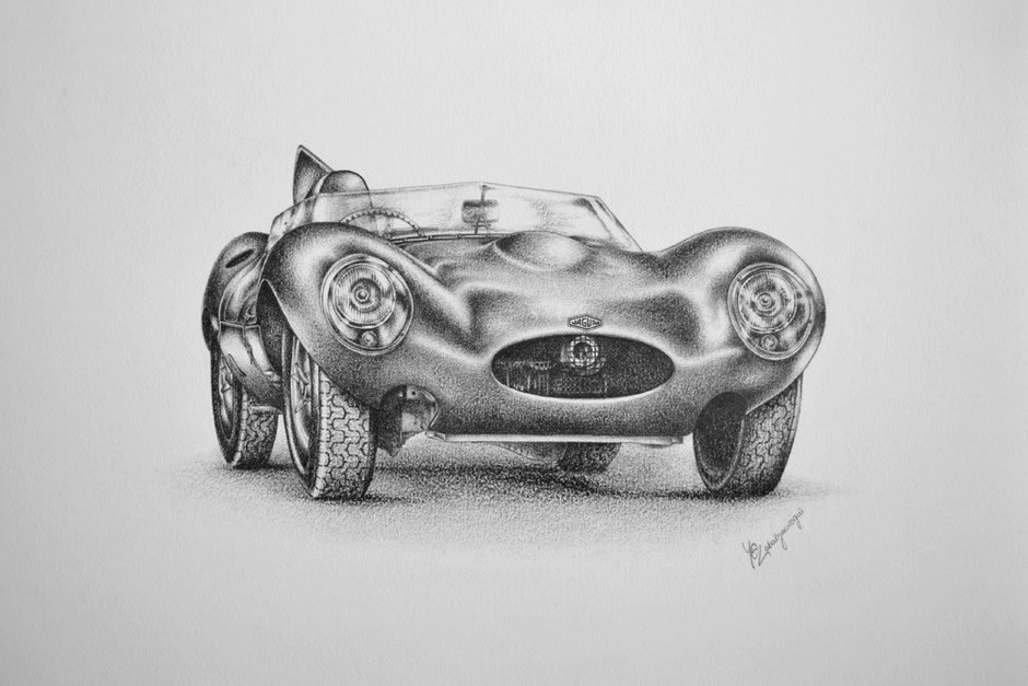 Yamila Zabaljauregui Jaguar D-Type Artwork