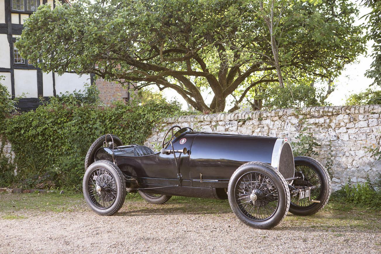 Bugatti Type 29/30, 1922, #4008. Bildquelle Bonhams. Der schlichte und einfache Aufbau, wie bei der Auslieferung 1922