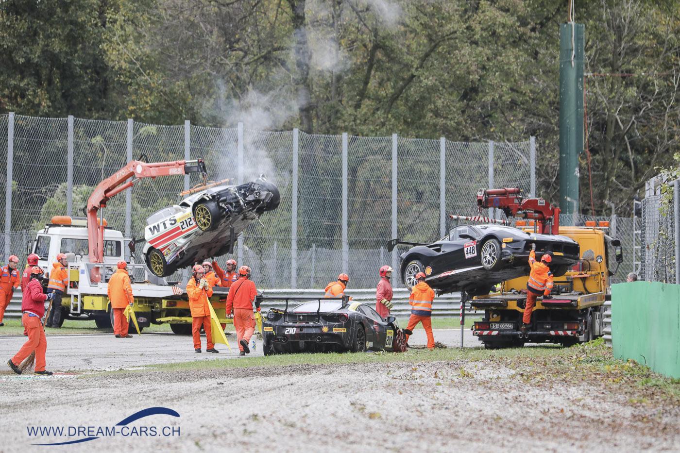 Finali Mondiali 2018 Monza, Crash in der Prima Variante