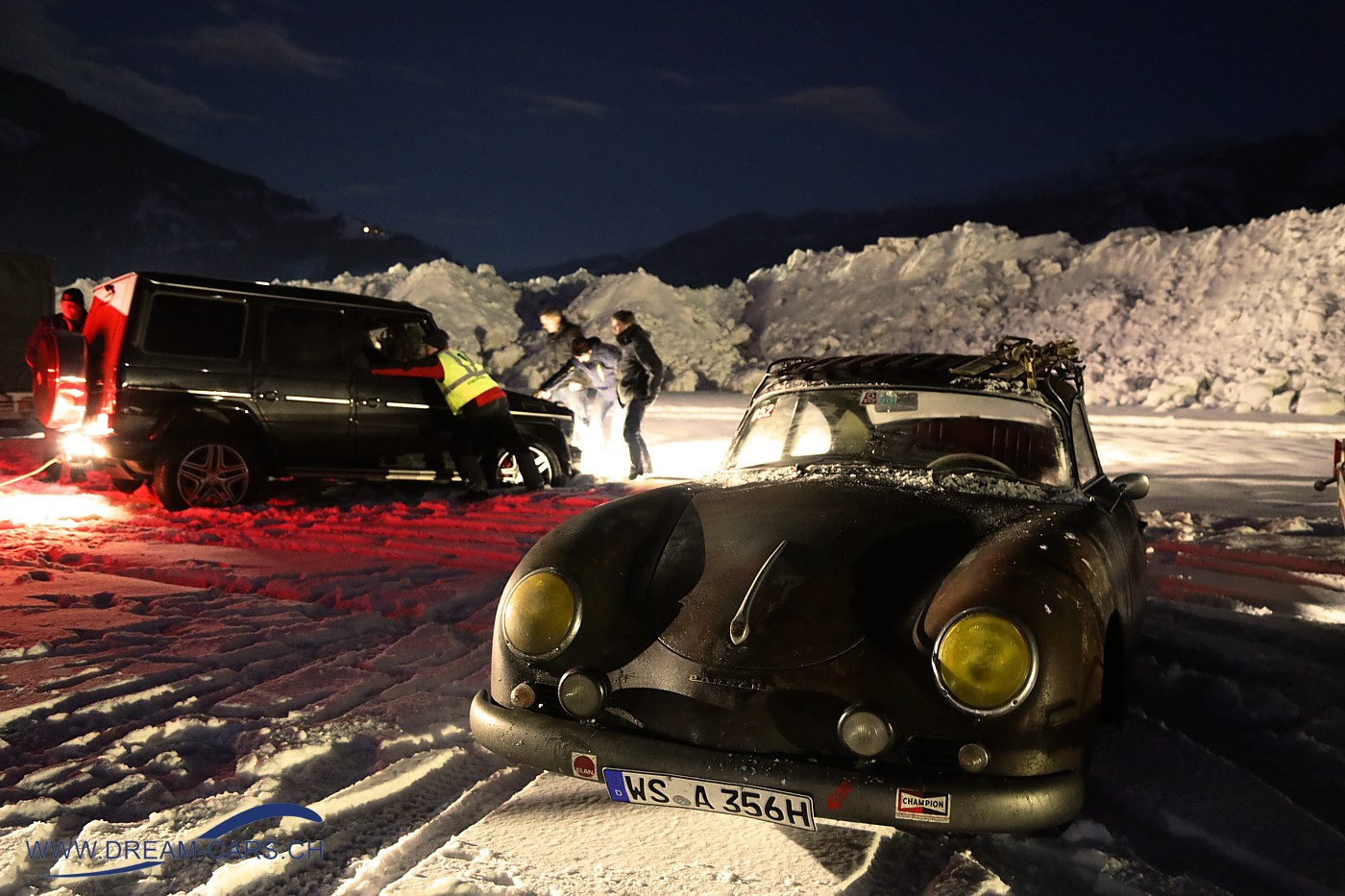 Porsche 356 am GP Ice Race in Zell am See