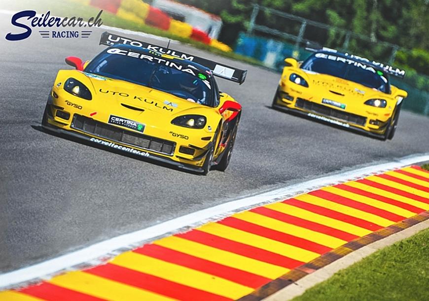 Die beiden Callaway GT3 auf der Rennstrecke