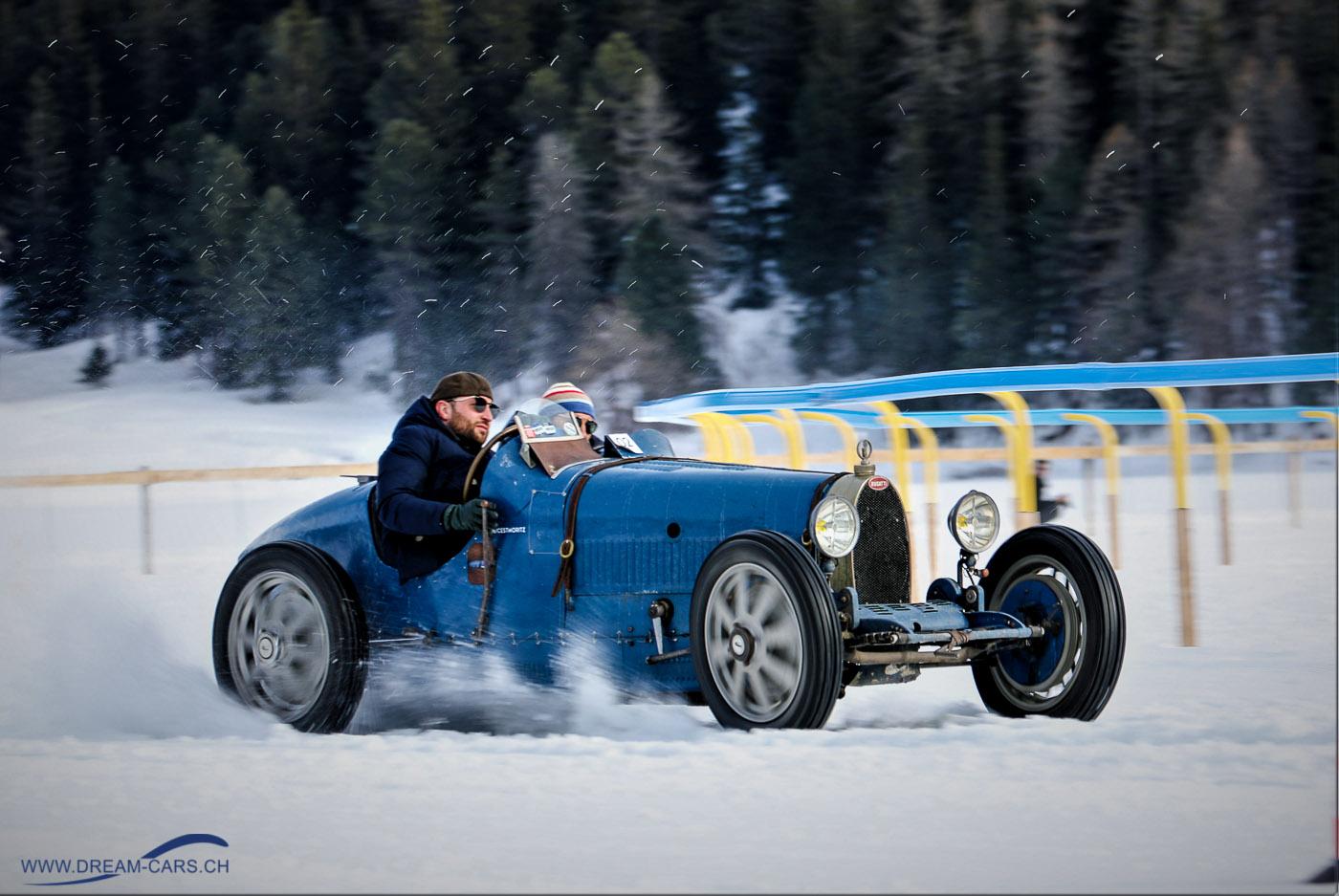 The Ice, Bugatti 35 auf dem gefrorenen See