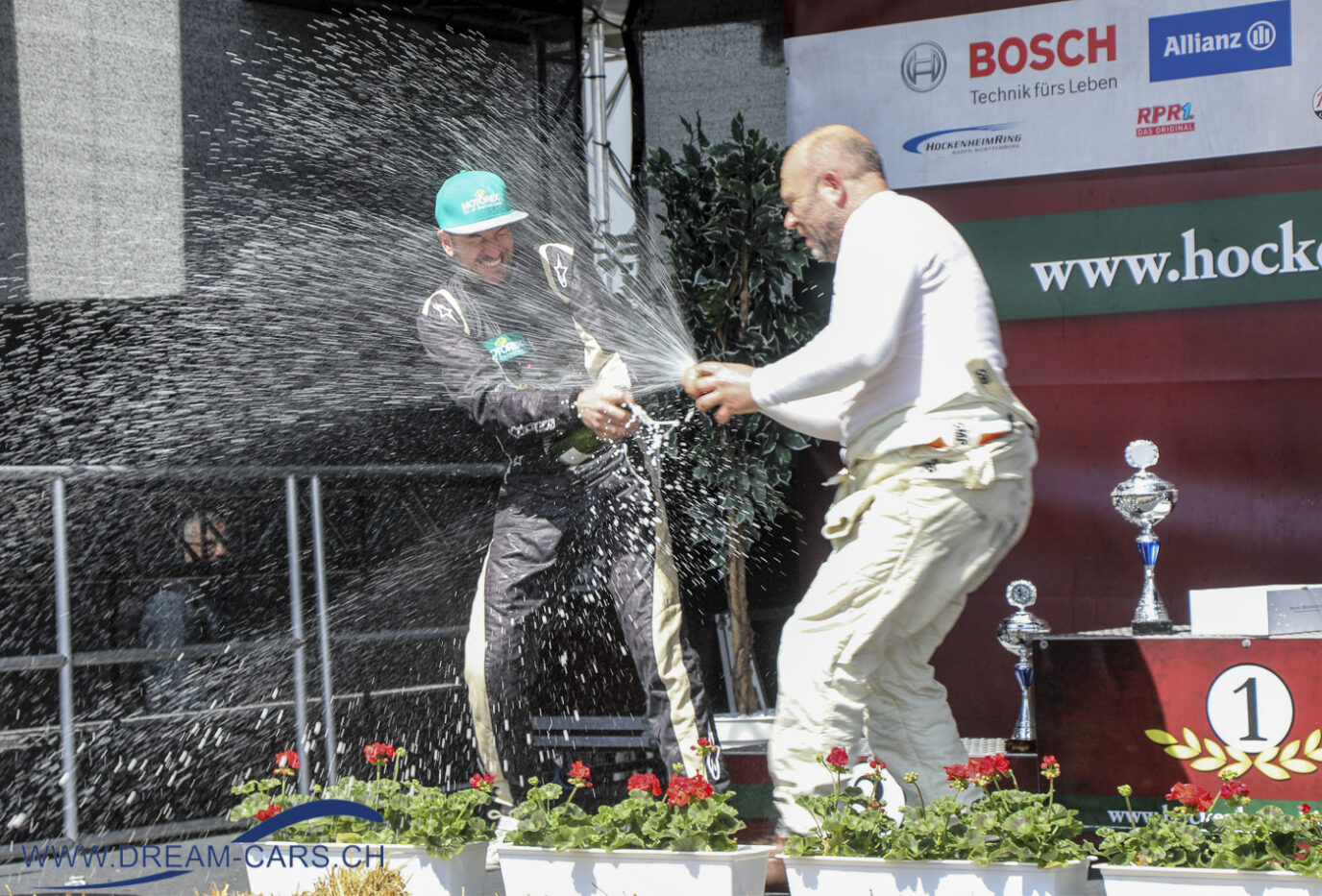 Thomas Amweg an der Siegerehrung in Hockenheim