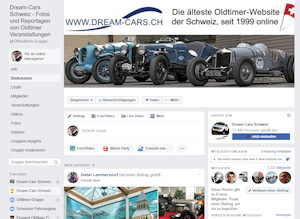 Facebook, Gruppe, Dream-Cars.ch
