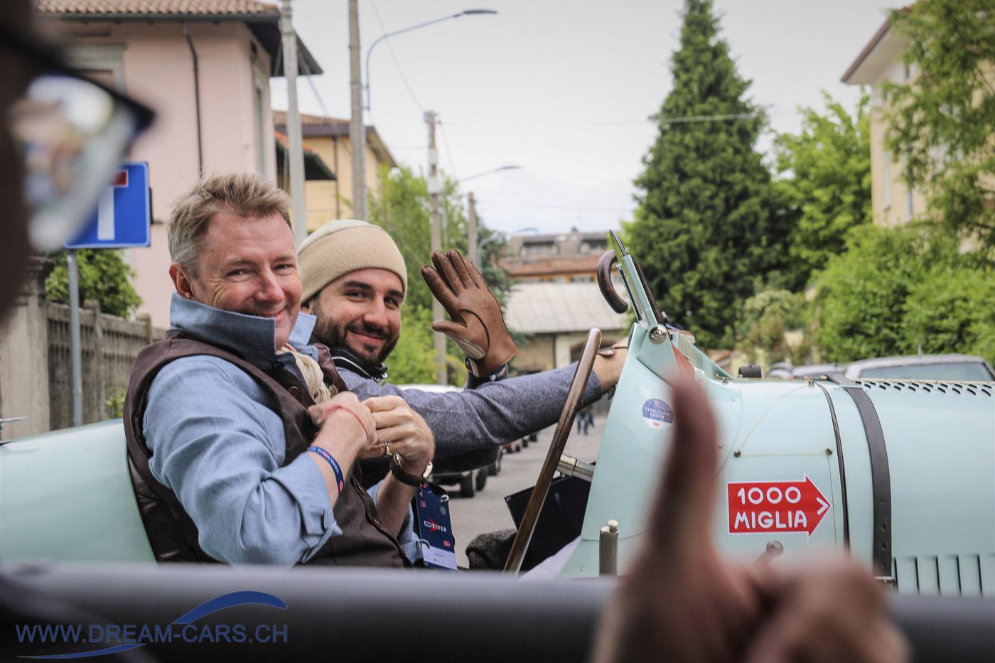 Mille Miglia 2019, Simon Kidston im Bugatti