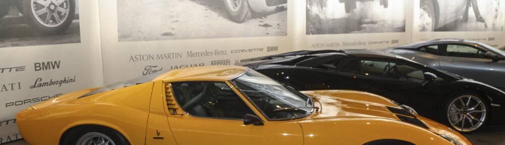 Lamborghini Miura. Pantheon Basel Muttenz, Sonderschau Ikonen + Boliden 2019