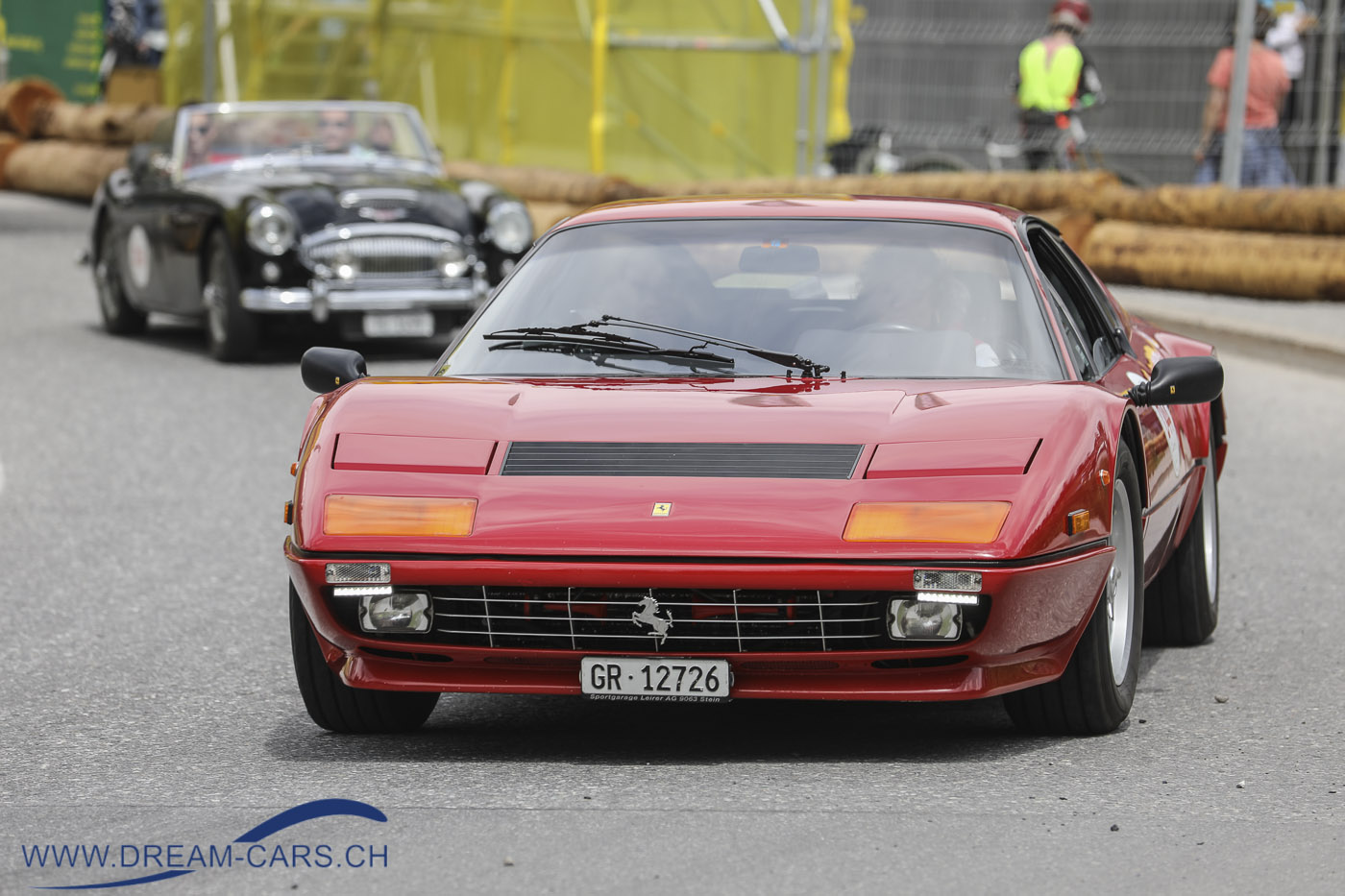 Lenzerheide Motor Classics, 14. bis 16. Juni 2019. Ein Ferrari 512 BB der Dorfgruppe