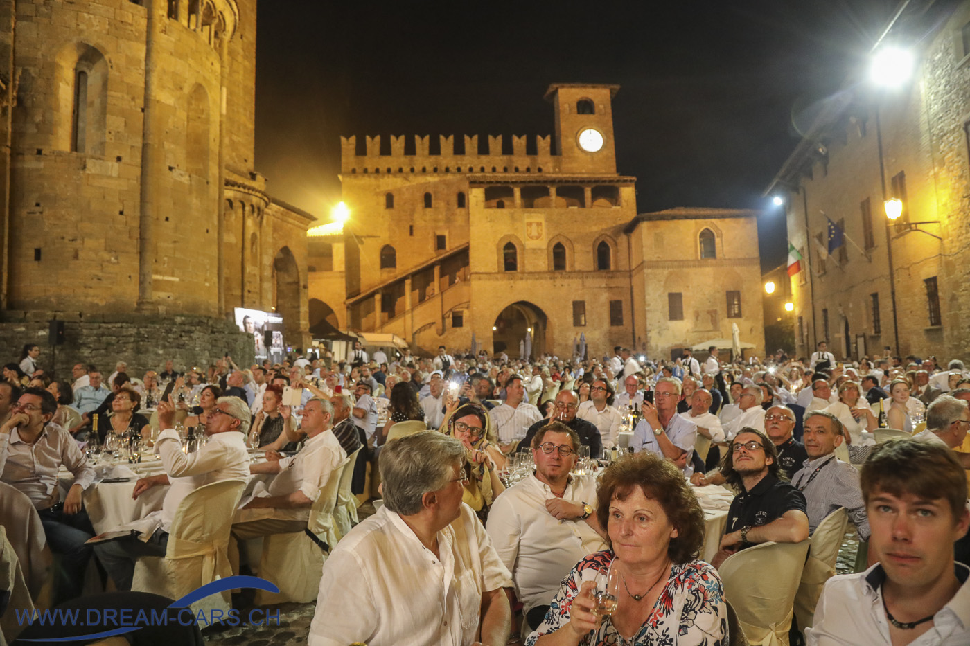 Gala-Diner am Samstagabend in Castell' Arquato