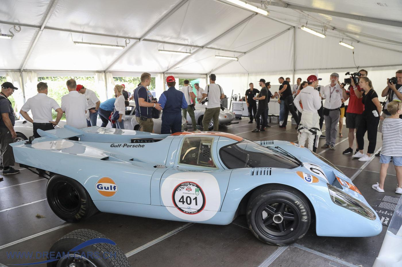 Der Porsche 917 im Porsche-Zelt
