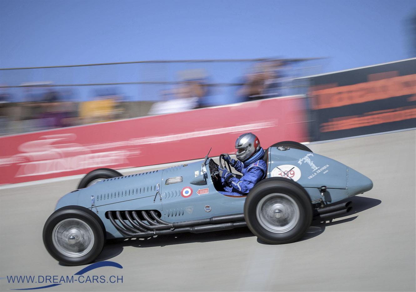 Thomas Rutishauser mit seinem wunderschönen Talbot-Lago T26