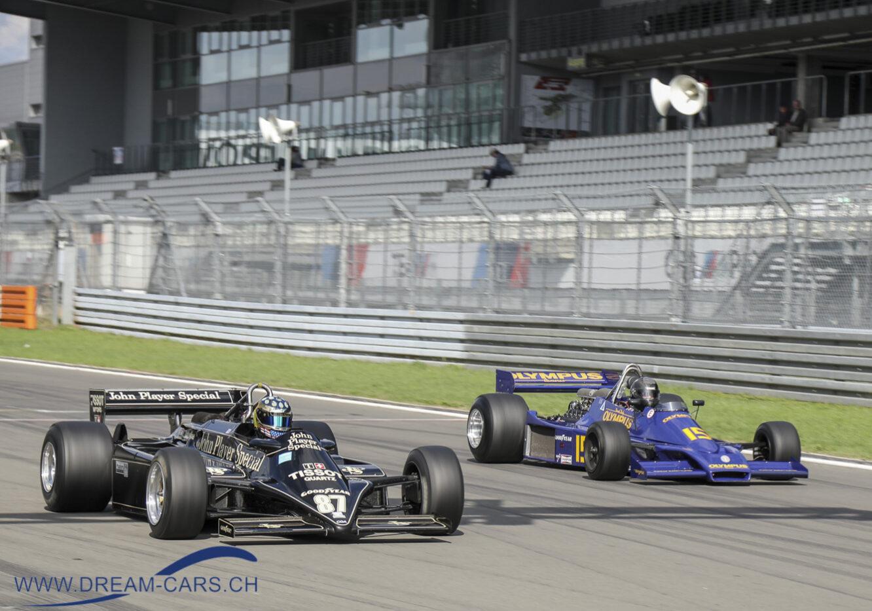 AvD Oldtimer Grand Prix auf dem Nürburgring, 9. - 11. August 2019. Die ehemaligen Formel 1-Fahrzeuge sorgten mit einer eindrücklichen Geräuschkulisse für Gänsehaut.
