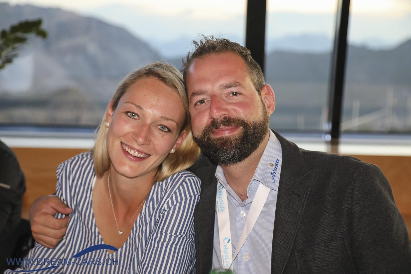 Arosa ClassicCar 2019. Bianca Müller und Markus Markwalder, OK Präsident.