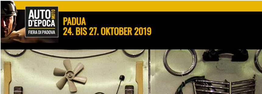Auto e Moto d'Epoca Pdua Banner 2019