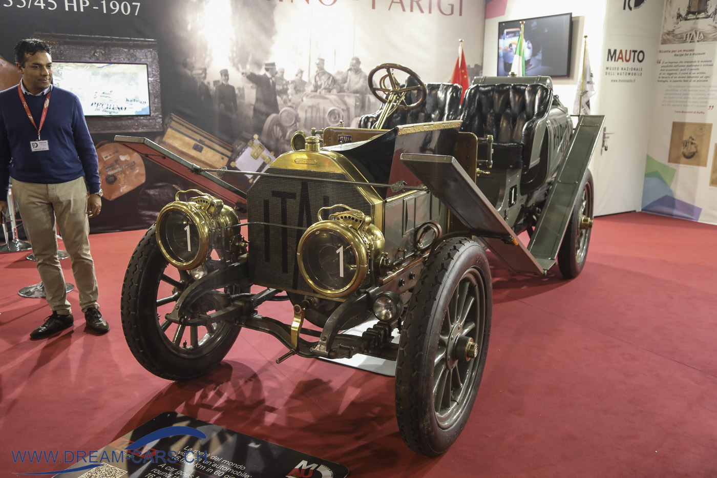 Auto e Moto d'Epoca Padua 2019. Itala 35/45 HP 1907, Peking-Paris. 16'000 KM in 60 Tagen