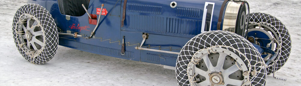 Bugatti 35 im Schnee