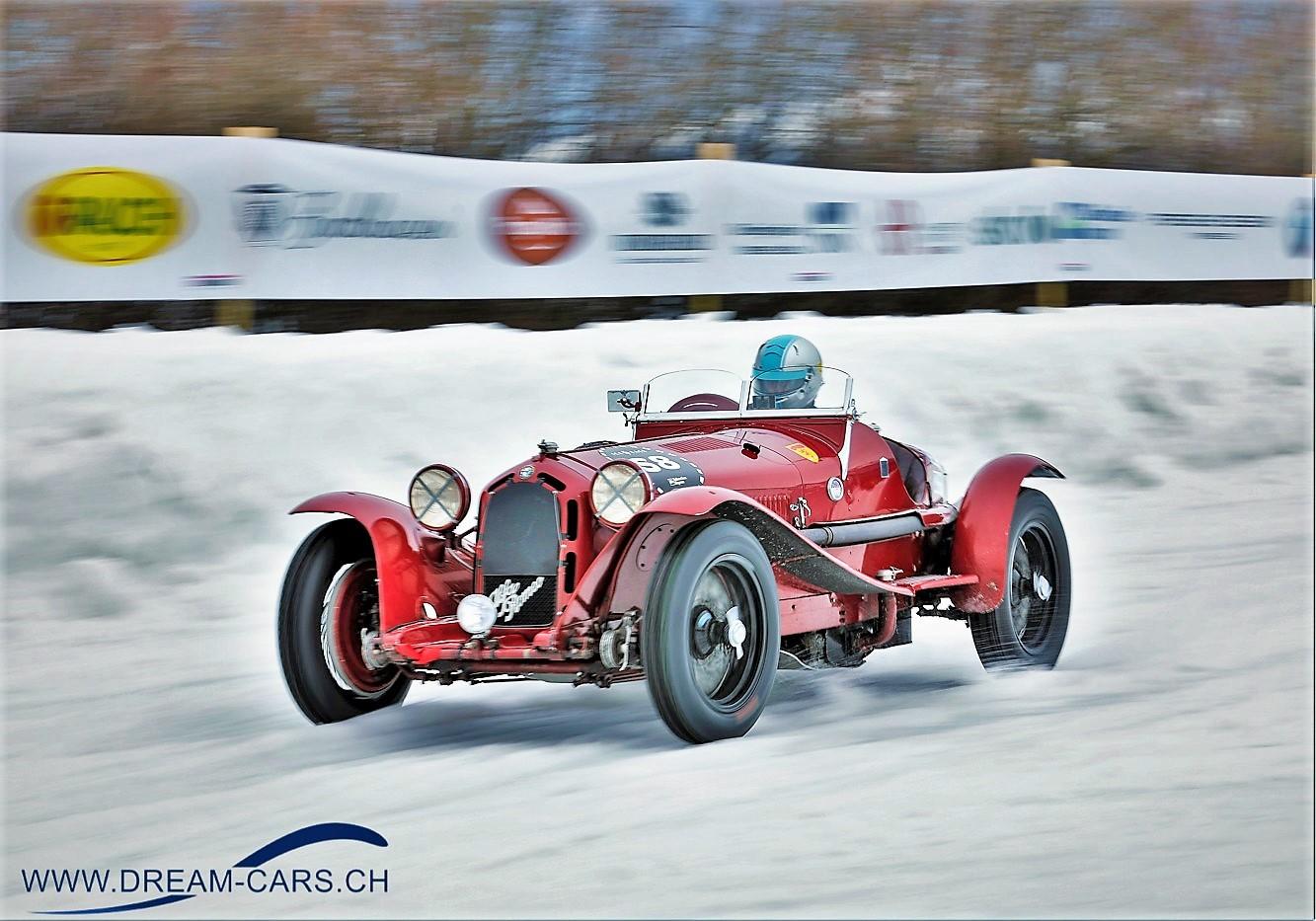 Alfa, Romeo, 8C, 2300, Monza, GP, Ice, Race