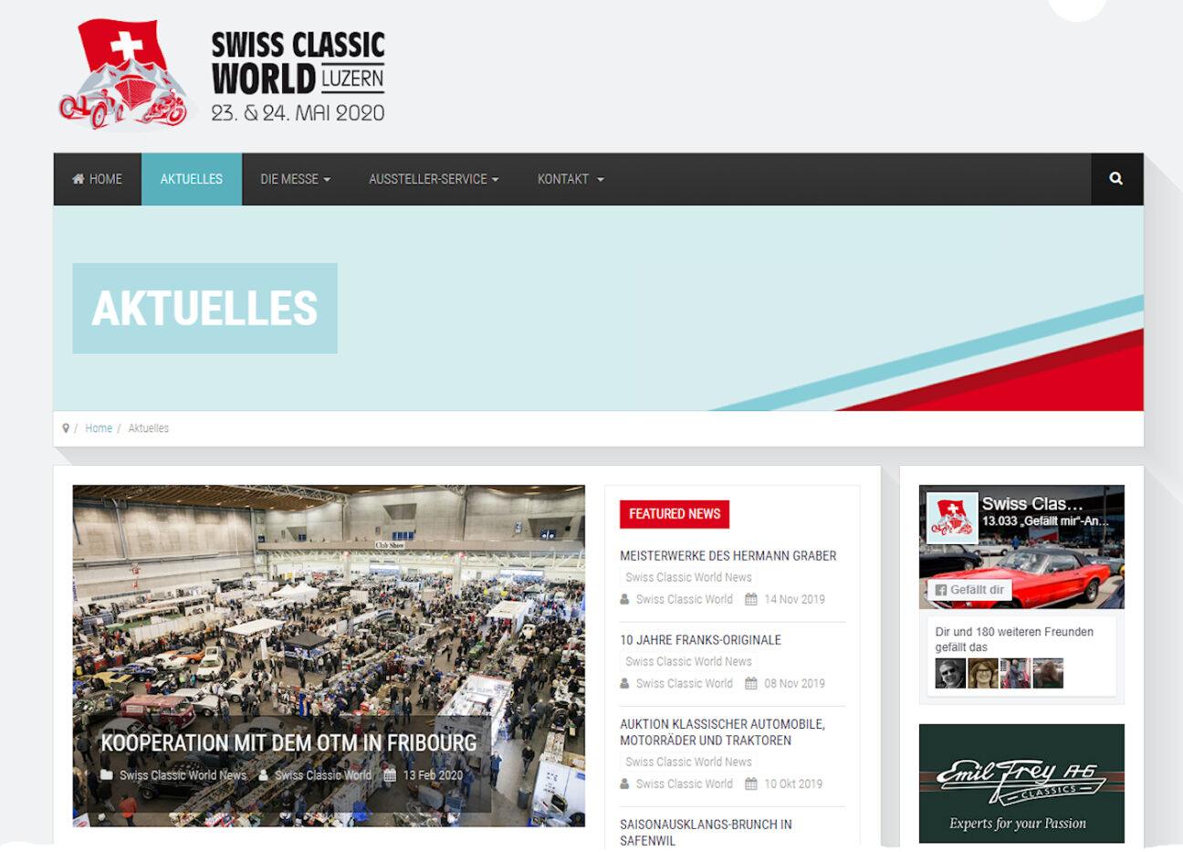 Swiss, Classic, World, Bernd, Link, 2020, OTM, Fribourg, Kooperation