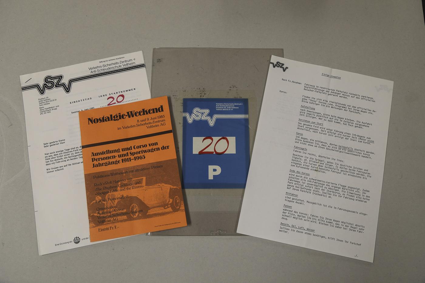 Nostalgie-Weekend im Verkehrs-Sicherheits Zentrum Veltheim, Juni 1985