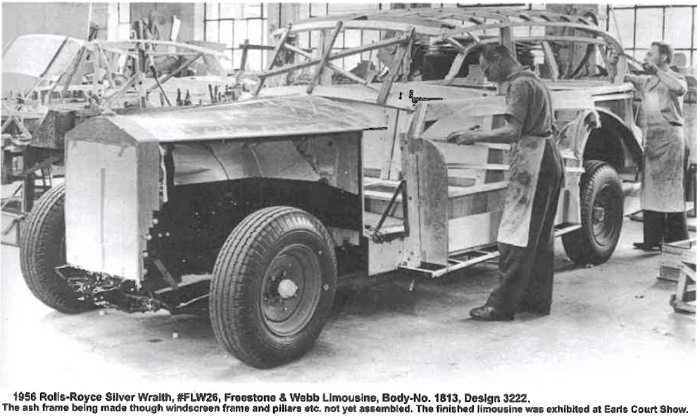 Rolls, Royce, Silver, Wraith, FLW26, Aufbau