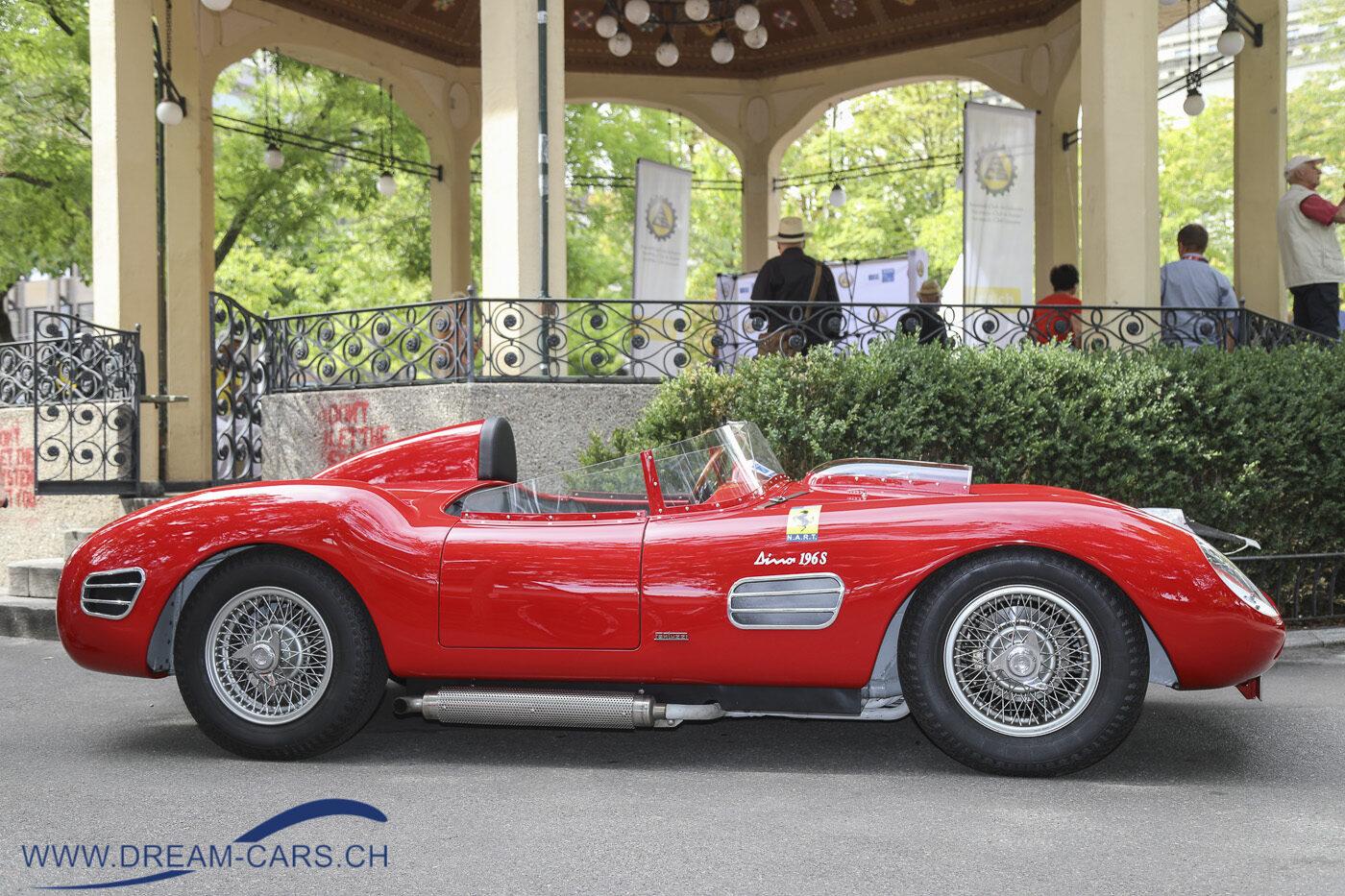 ZCCA - Zurich Classic Car Award, Bürkliplatz Zürich, 19. August 2020. Der Dino 196 S. Das Baujahr 1967 gibt einen Hinweis auf einen Nachbau