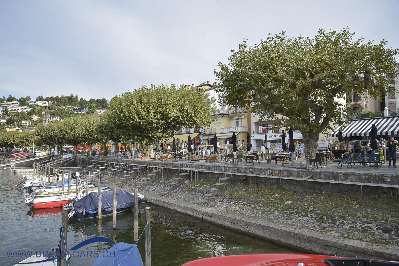 ACCA, Ascona Classic Car Award, 26./27. September 2020. Die Promenade in Ascona gehörte dieses Jahr den Restaurantbesucher