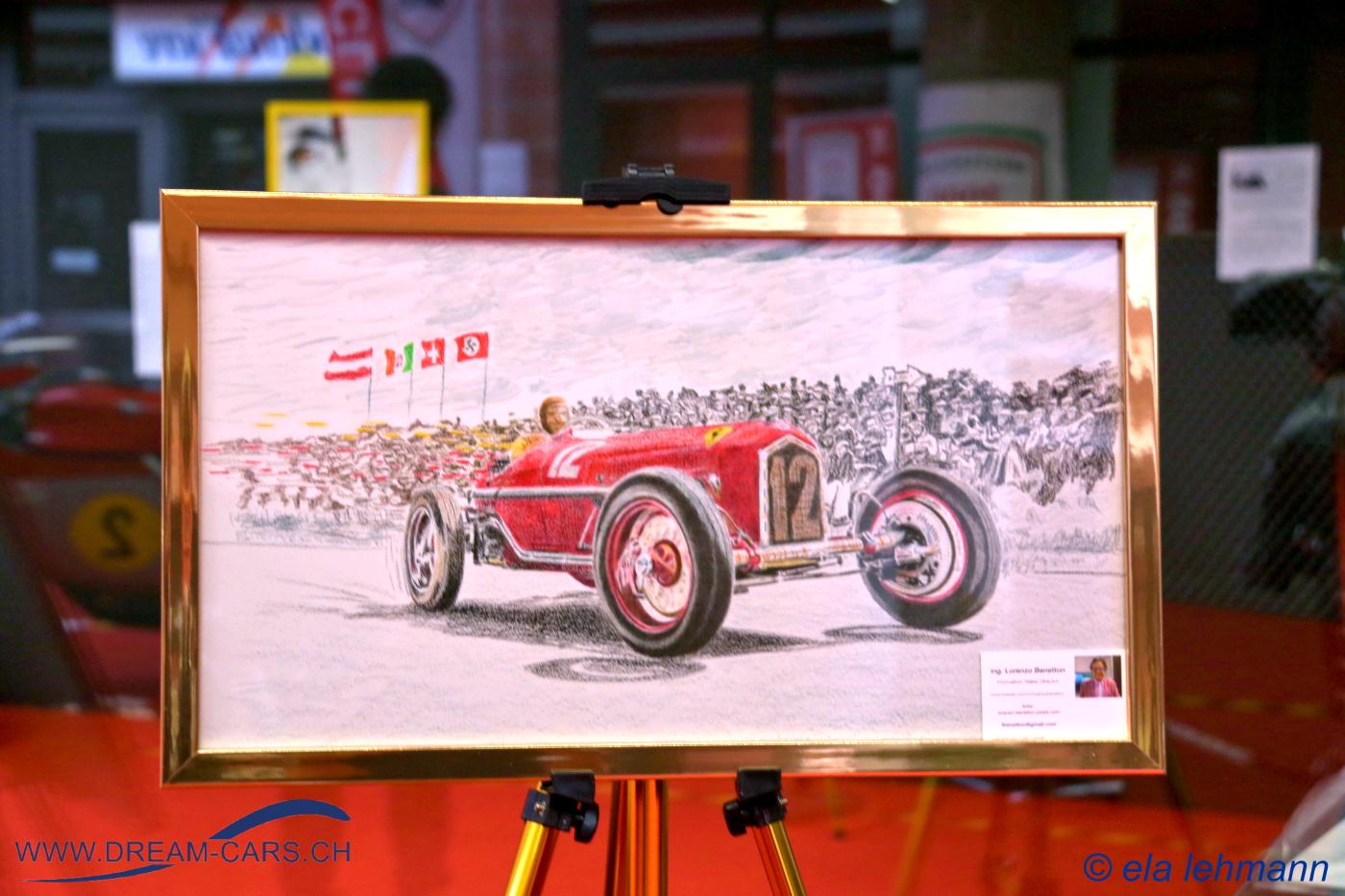 Modena Motor Gallery, 26./27. September 2020. Ein Alfa Romeo P3, künstlerisch in Szene gesetzt von Lorenzo Benetton