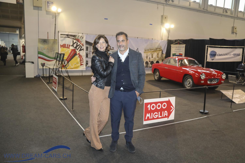 Auto e Moto d'Epoca Padua, 22. bis 25. Oktober 2020. Davide Accorsi mit seiner Frau