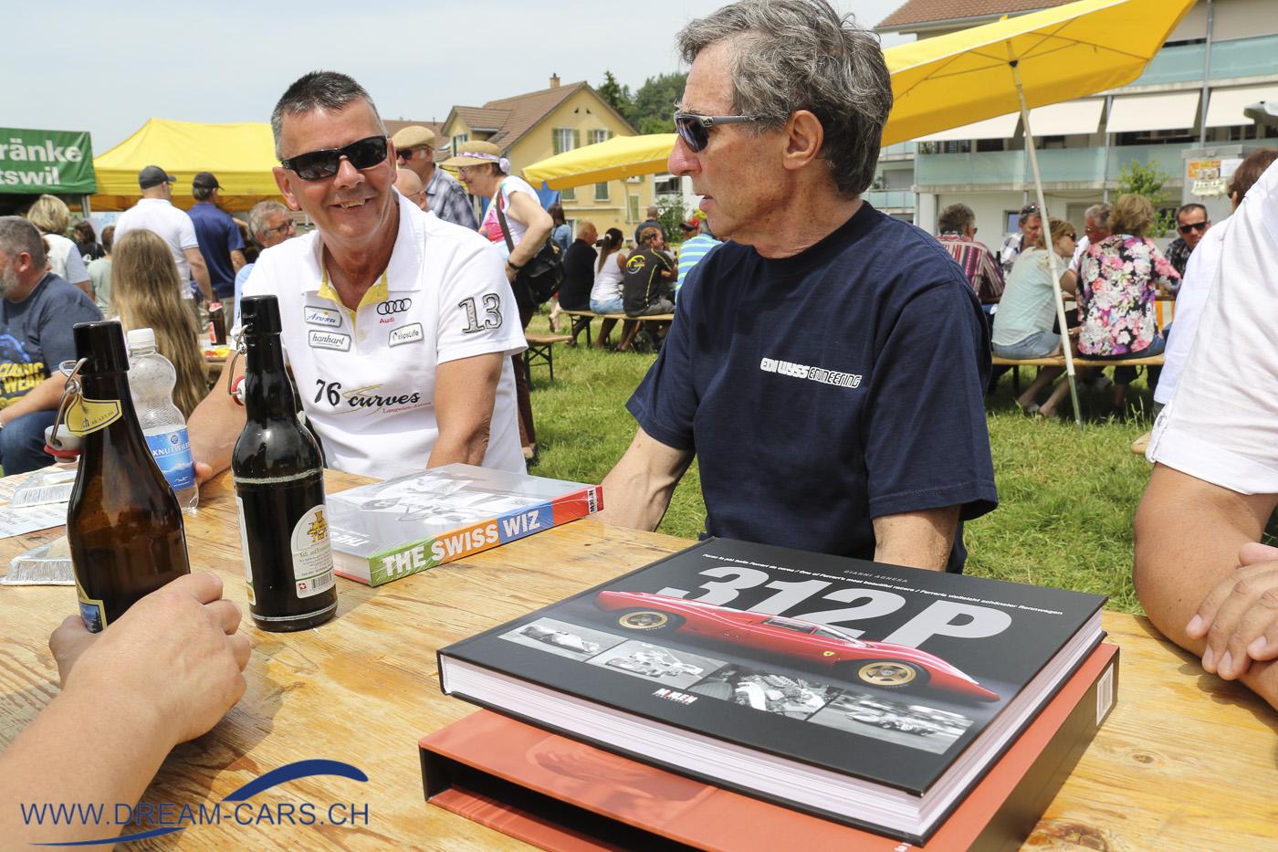 OLDTIMERCLASSIC HITTNAU, 19. und 20. Juni 2021. Das Buch über den Ferrari 312P. Hans-Peter Thalmann im Gespräch mit Edy Wyss