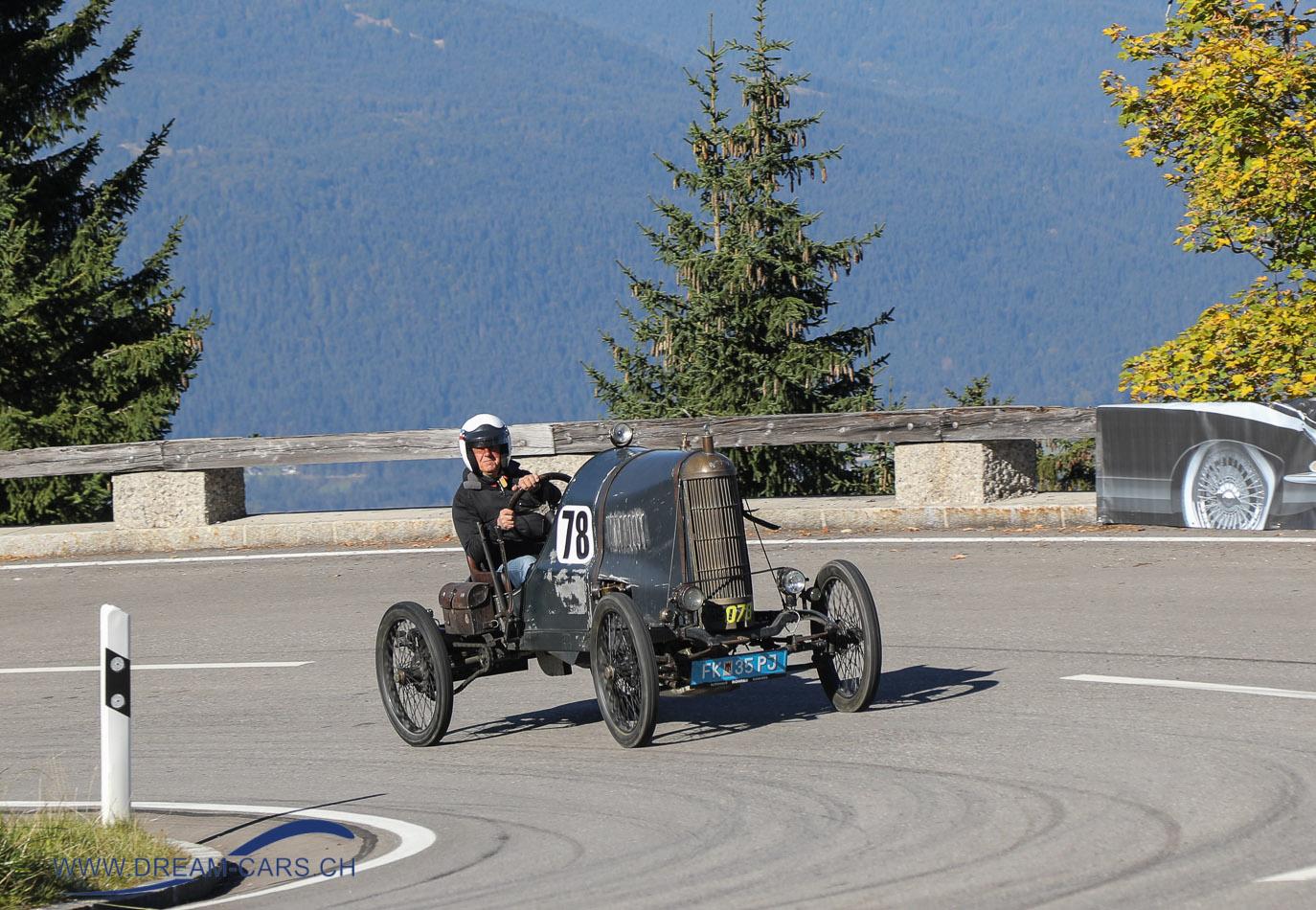 Lion-Peugeot Voiturette 1909 am Rossfeldrennen 2018