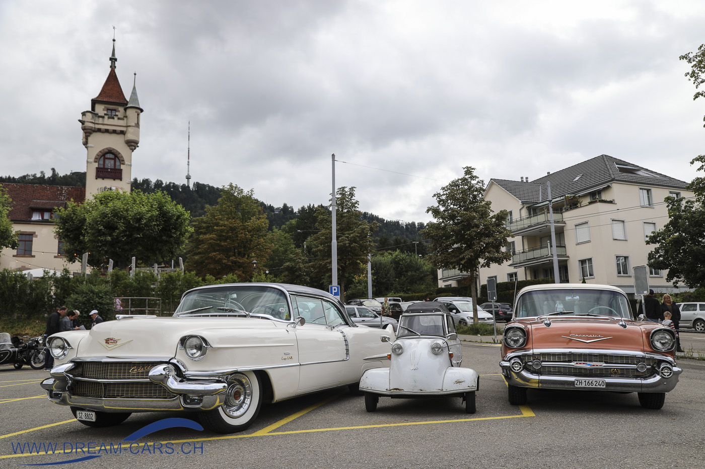 Cadillac, Messerschmitt und Chevrolet Bel Air