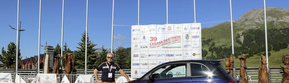 Ing. Eris Tondelli mit Abarth 595 Scorpionero und Monster Energy Yamaha