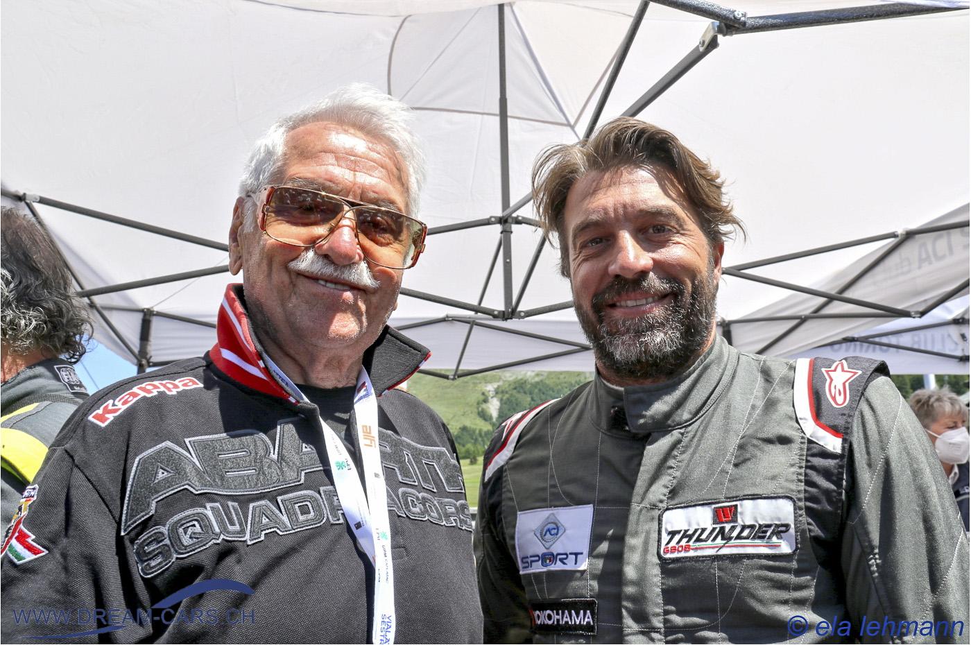 Die Rennfahrer: Ing. Eris Tondelli und Dr. Filippo Caliceti