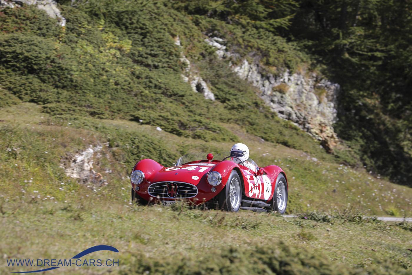 Bernina Gran Turismo, 17. - 19. September 2021. Gian-Pietro Rossetti mit seinem wunderschönen Maserati A6 GCS Fantuzzi