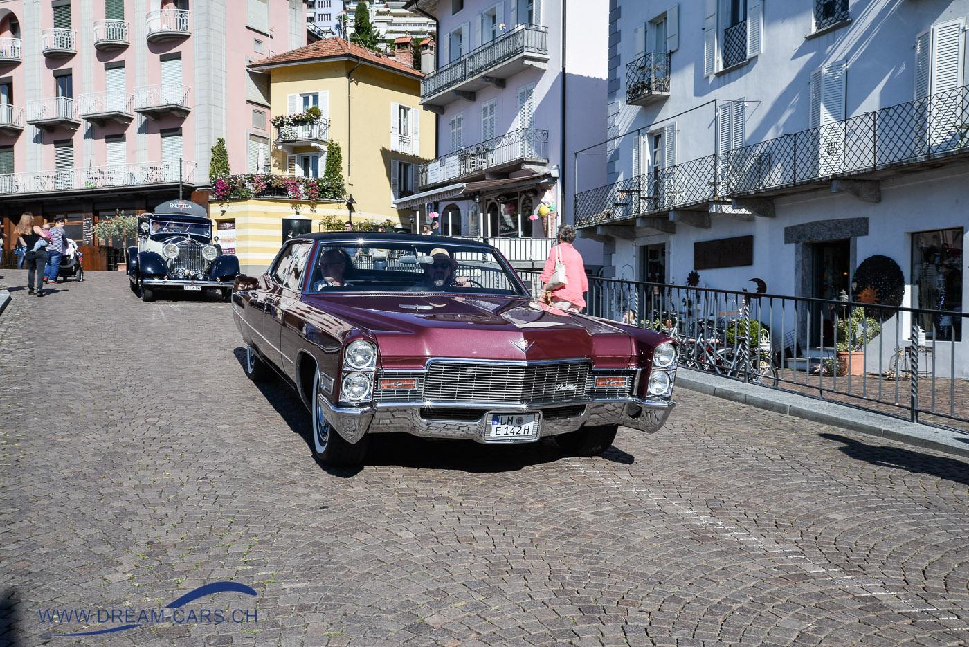 ACCA - Ascona Classic Car Award 2017. Der Sieger des Preises 'best unrestored', ein Cadillac Deville von 1968