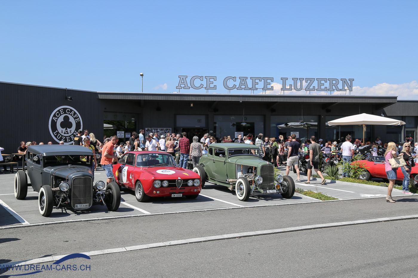 ACE CAFE LUZERN, italienische Fahrzeuge Mai 2016