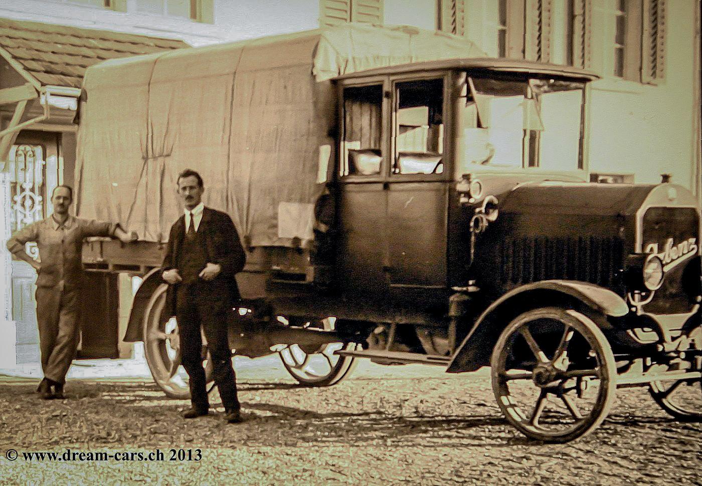 Ein Arbenz Lastwagen mit damals üblicher Vollgummibereifung. Bildquelle: Archiv DREAM-CARS.CH