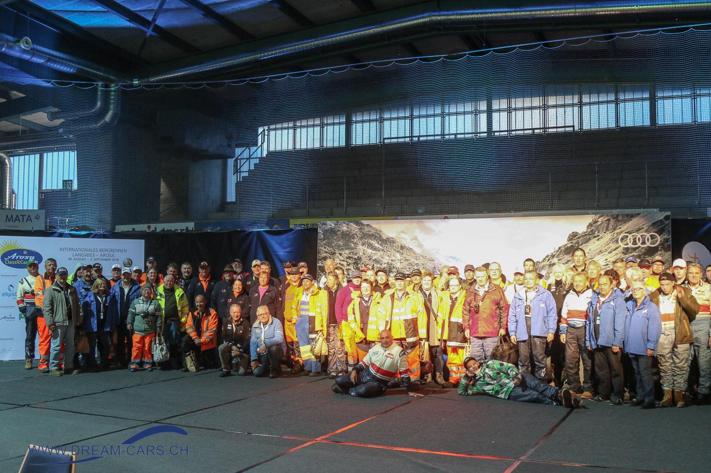 Arosa ClassicCar 2018 Weit über 100 Streckenposten waren während den 3 Tagen im Einsatz
