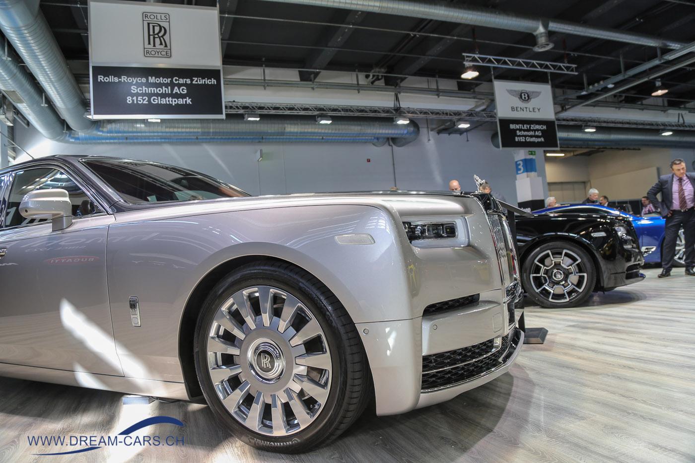 Auto Zürich 2017. Einen imposanten Rolls Royce Phantom VIII gab es am Stand von Schmohl zu bewundern