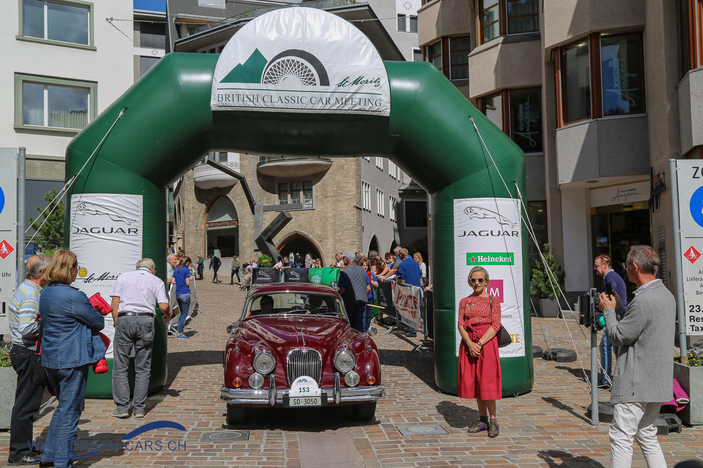 BCCM - British Classic Car Meeting St. Moritz, 5. bis 8. Juli 2018. Zielankunft am Samstag in der Fussgängerzone von St. Moritz